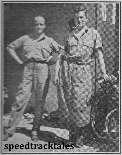 photo - Graham Walker, captain of the British team, chatting in Merano with Dr Galloway (left), who is out there with a Rudge combination. ISDT 1932 (Speedtracktales archive)