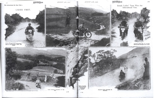 Images of the women riders of the Great Britain 'B' Vase Team ISDT 1927