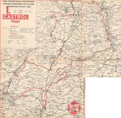 Image - scanned copy of course map Day 1 ISDT 1958 (Speedtracktales Archive)