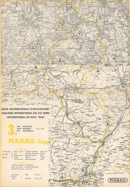 Image - scanned copy of course map Day 3 ISDT 1958 (Speedtracktales Archive)