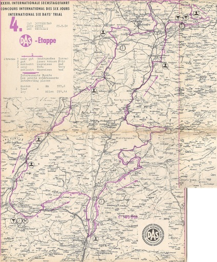 Image - scanned copy of course map Day 4 ISDT 1958 (Speedtracktales Archive)