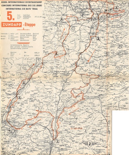Image - scanned copy of course map Day 5 ISDT 1958 (Speedtracktales Archive)