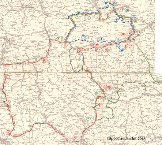 Image - scanned route map days 1-3 ISDT 1960