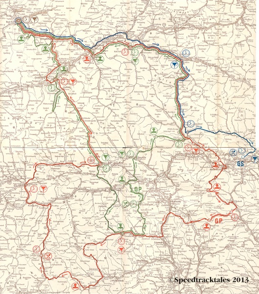 Image - scanned route map days 4-6 ISDT 1960