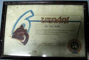 photo -framed certificate ISDT 1947