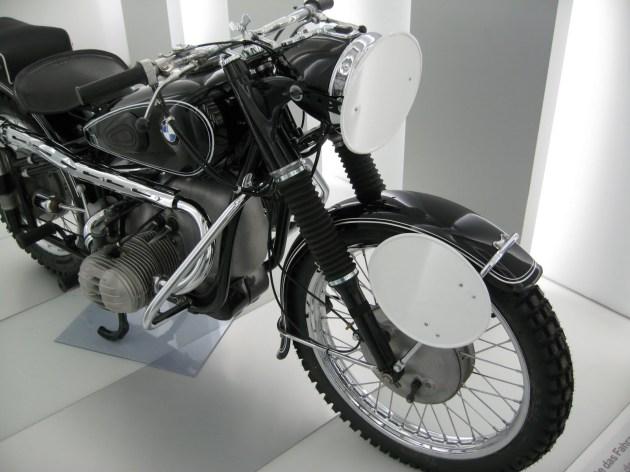 Photo - works German Trophy Team BMW 594cc R67/2 at the BMW Museum ISDT 1953 (courtesy weissundblau blog)