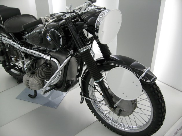 Photo - works German Trophy Team BMW 594cc R67/2 at the BMW Museum ISDT 1953 (courtesy weissundblau blog)