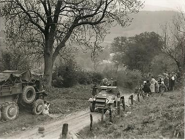 Photo - Armored Car during Trials on Allt-Y-Bady 1932