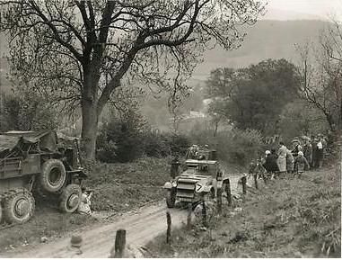 Photo - Armored Car during Trials on Allt-Y-Bady 1932