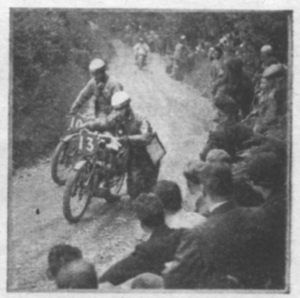 image - The majority of the under - 100 cc machines found Allt-y-Bady too much for them. W. Zylaard and J.G Heusden walking up alongside their D.K.W.s ISDT 1937