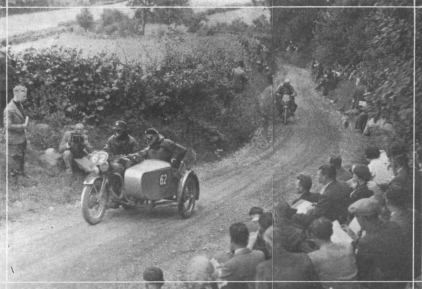 Image - Although there are no observed hills in the INternational, there are plenty of steep hills on the course. Here is H.W. Croucher (598 Panther sc) leading W. v. Millenkovich (248 Püch), Austria, up the 1 in 3 1/2 gradient of Allt-y-Bady.