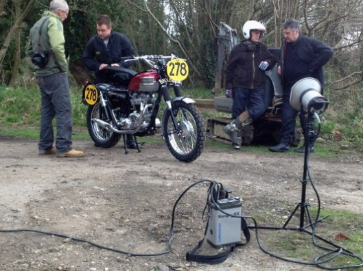 Photo - Ace Classic's replica of the Steve McQueen ISDT Triumph