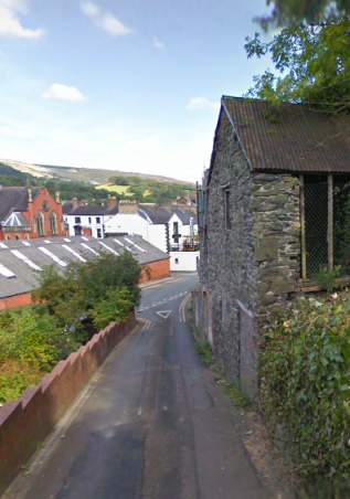 Photo - Willow Street & Hall Street Junction Llangollen Sept 2009