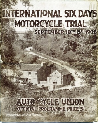 Image of scanned programme cover ISDT 1928