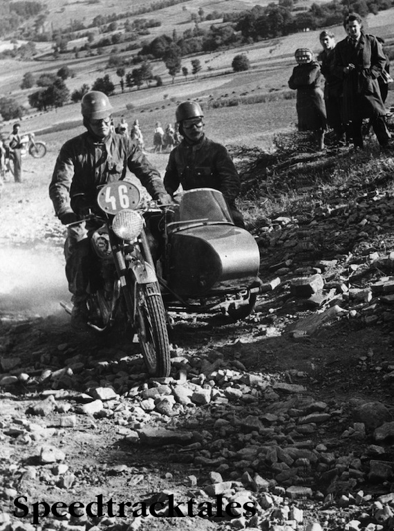 Photo – #46 Reg Wagger in BSA 650cc Gold Flash with sidecar ISDT 1953 (Images STT Archive / Geoff Wagger)