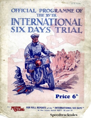 Image of scanned cover of the 1933 ISDT Official Programme