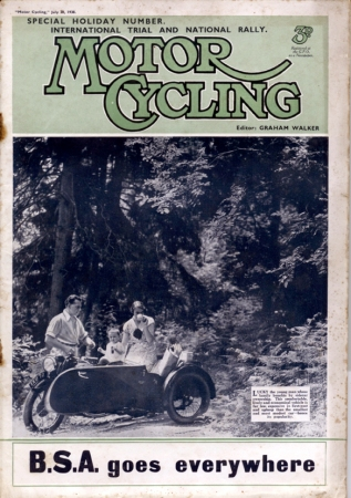 Image - scanned cover of Motor Cycling 20 July 1938 ISDT 1938