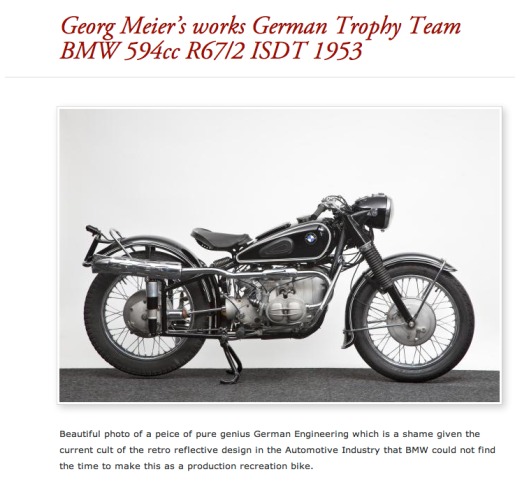 The most popular search for bike make was BMW and the R68 being the most enquired about bike. Georg Meier a famous works BMW rider is also near the top of rider popularity stakes
