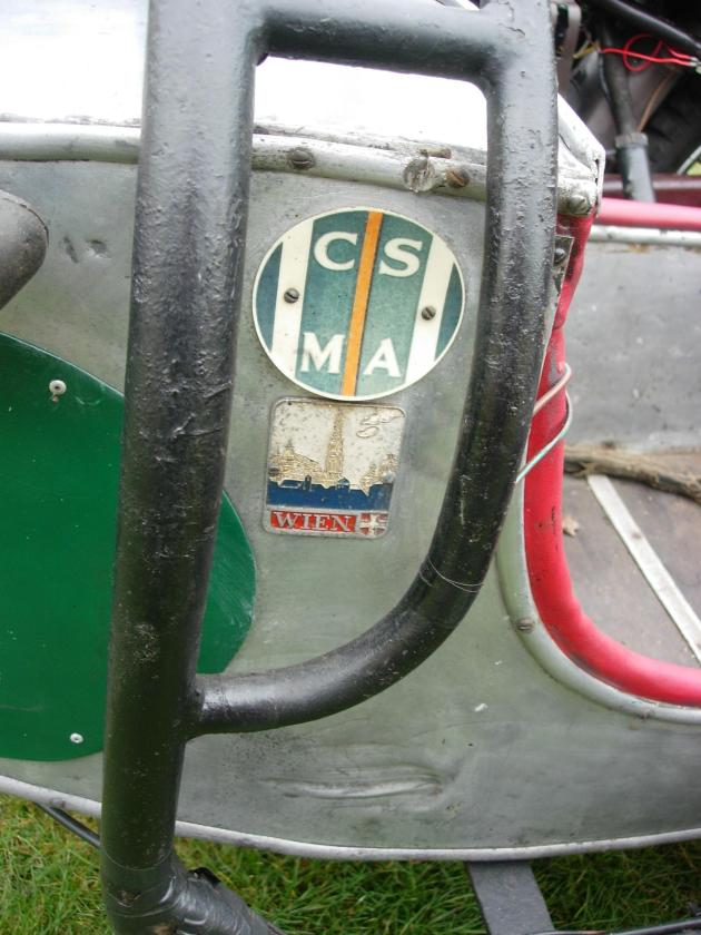 Photo Cantebury Sidecar with CSMA and Austrian badges ISDT 1955