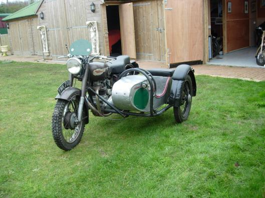 Photo - 1953 Royal Enfield 700cc Meteor Trials Combination Brian Nash rode in the ISDT 1955