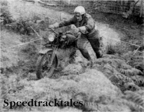 "Photo - This was the""Keep going"" test - and here is Major Watson (BSA) of the 49th Infantry Division R.A.S.C> (T.A.) finding it hard work - Army Motorcycle Trial Two Day Championships 1960"
