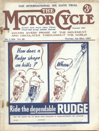 Image - scanned cover from the Motor Cycle 22 July 1937