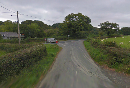 Photo - Bont Fawr checkpoint on route Day 1 ISDT 1938 (Google Streetview)