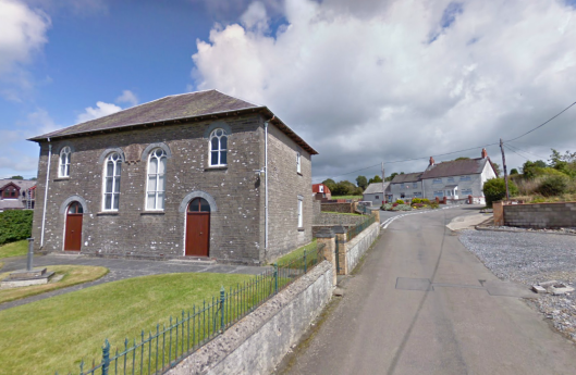 Photo - The chapel at Capel Iwan ( Ifan) on route Day 2 ISDT 1938 (Google Streetview)