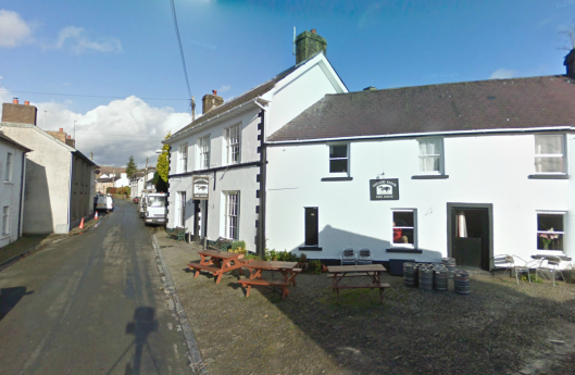 Photo - Cilycwm checkpoint and the Neuadd Fawr Inn on route Day 2 ISDT 1938 (Google Streetview)
