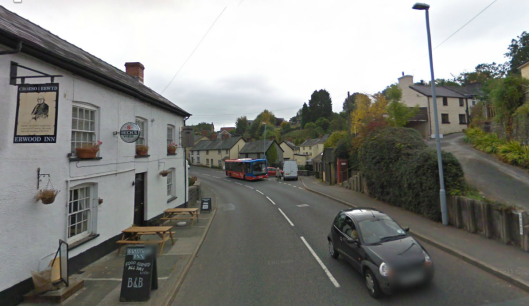 Photo - Erwood village on route Day 1 ISDT 1938 (Google Streetview)