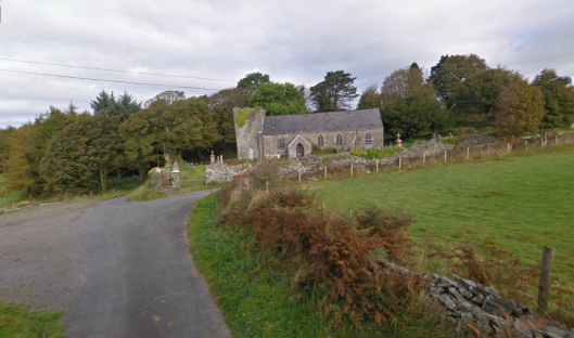 Photo - Llangwig Church on route Day 1 ISDT 1938 (Google Streetview)