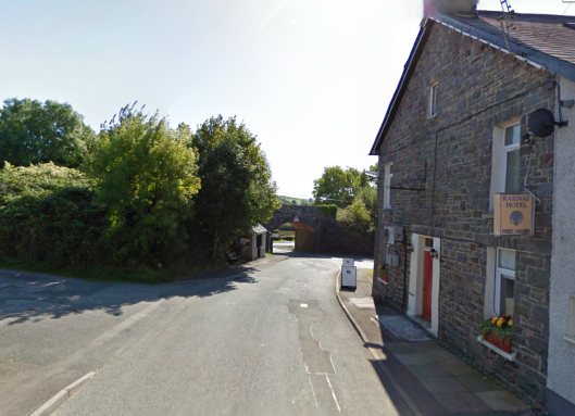 Photo - Railway Inn at Llanpumpsaint on route Day 2 ISDT 1938 (Google Streetview)