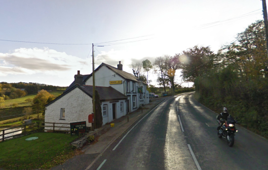 Photo - Mountain Cottage Inn A482 south of Lampeter on route Day 2 ISDT 1938 (Google Streetview)