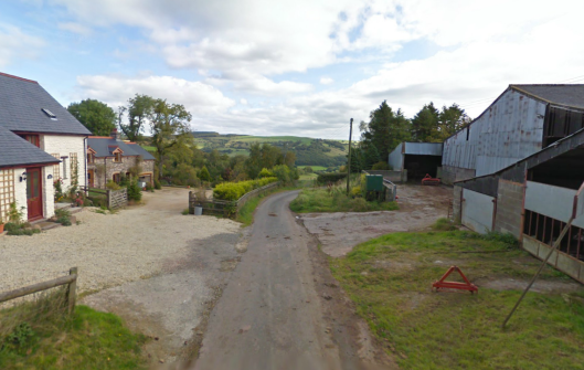 Photo - Pentre Lloegr on route Day 1 ISDT 1938 (Google Streetview)