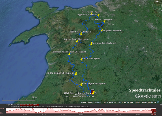 Image - map of route and height profile for days 4 & 5 of ISDT 1938 (Speedtracktales collection