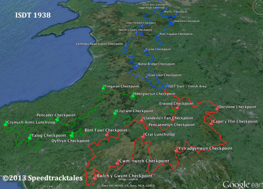 Image of end of final part of the '38 Route finder project 1 - 5 days of ISDT 1938 (Speedtracktales Collection)