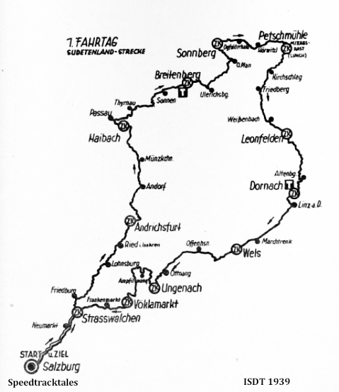 image - route map for Day 1 ISDT 1939 (speedtracktales archive)
