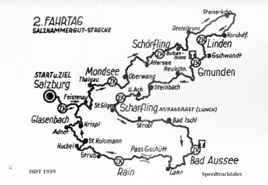 image - route map for Day 2 ISDT 1939 (speedtracktales archive)