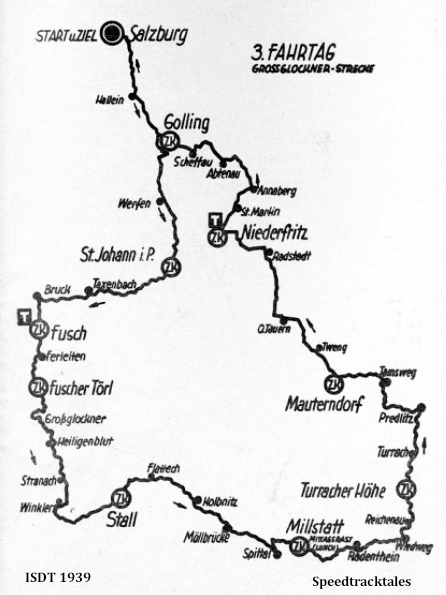 image - route map for Day 3 ISDT 1939 (speedtracktales archive)
