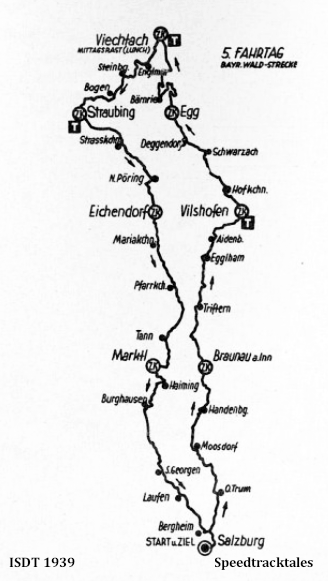 image - route map for Day 5 ISDT 1939 (speedtracktales archive)