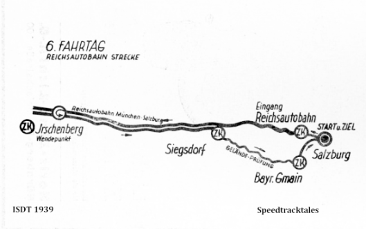 image - route map for Day 6 ISDT 1939 (speedtracktales archive)