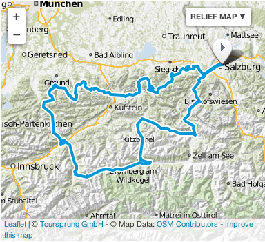 image - Map of route day 4 ISDT 1939 (Courtesy Mopedmap)