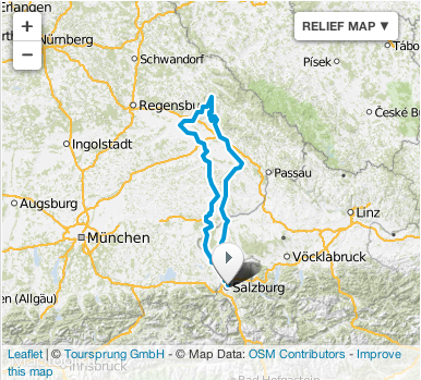image - Map of route day 5 ISDT 1939 (Courtesy Mopedmap)