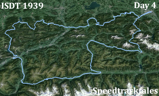 Image - ISDT 1939 Day 4 - with Landsat imagery (Speedtracktales / Google)