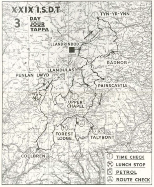 image - scanned map of days 3 ISDT 1954 (lo-res programme)