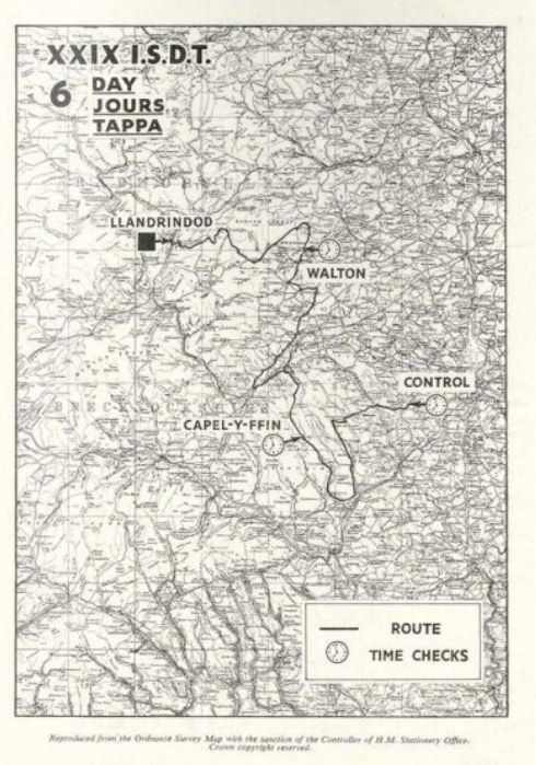 image - scanned map of days 6 ISDT 1954 (lo-res programme)