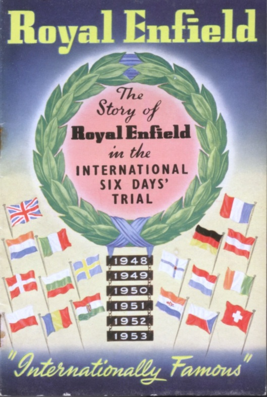 image - Royal Enfield booklet front cover (Speedtracktales Collection)