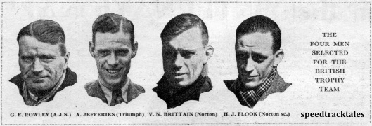 Image - The four men selected for the British Trophy Team ISDT 1939 (speedtracktales collection)