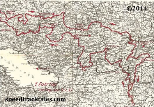 Image - scanned copy of Day 1 Route Map ISDT 1935
