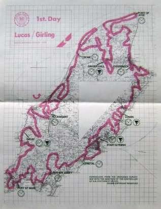 Photo - paper entrants map for day 1 ISDT 1975